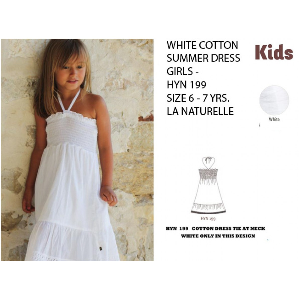 5ee730bb294d5 Buy young girls 6 - 7 clothing online by La Naturelle France. Love ...