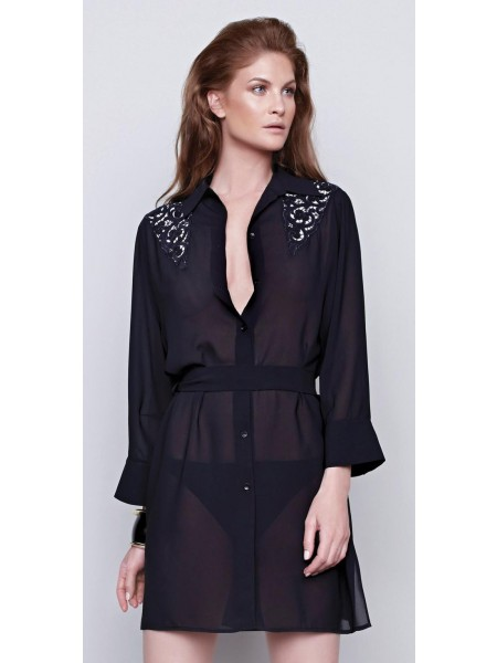 Gottex dress/shirt blouse -Black Swan