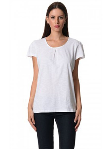 La Naturelle Orgainic White cotton Top. LON 223