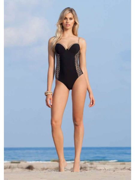 Profile Gottex - Sweetheart blacl - one piece swimsuit - Kenya CollectIon  US 8 Aust 10, Uk 10