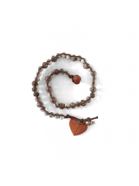 HEART & TAGUA SEED BRACELET BY MULBERRY MONGOOSE