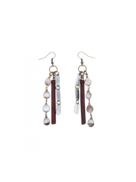SNARE EARRINGS IN TAGUA BY MULBERRY MONGOOSE