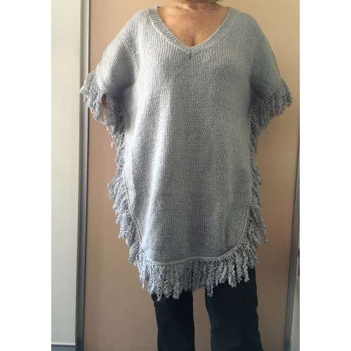 Buy Silver Grey Poncho By Brave And True Online Love Fashion