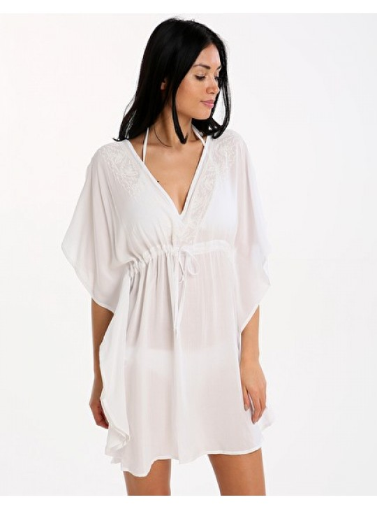 Phax Dress/Caftan White