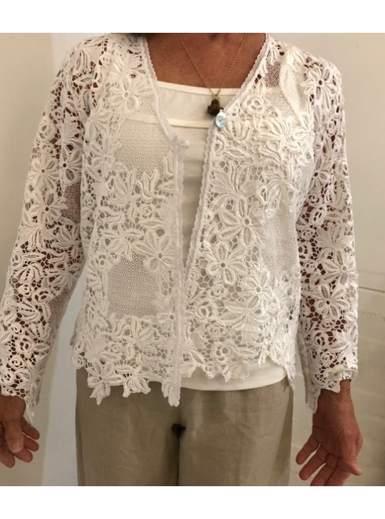 White Macra lace - Jacket - Large