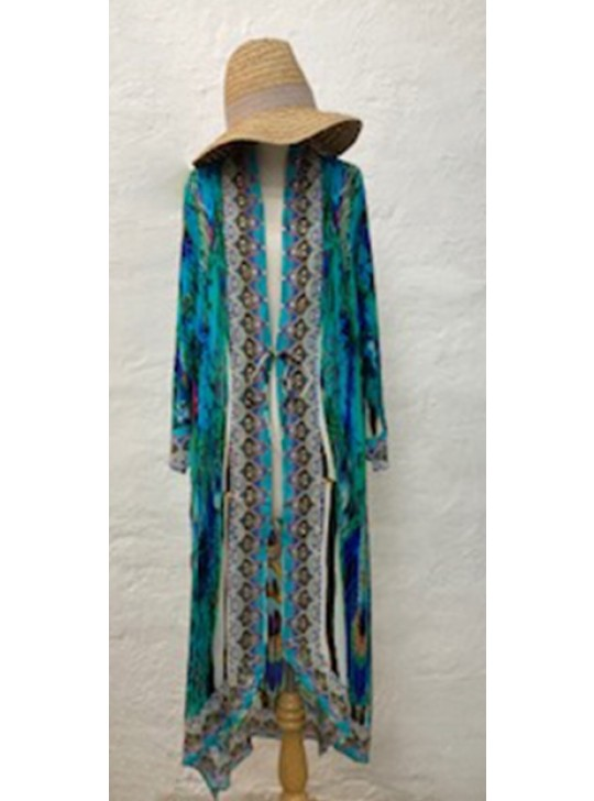 Shrug Maxi Cape in 100% silk Viscose