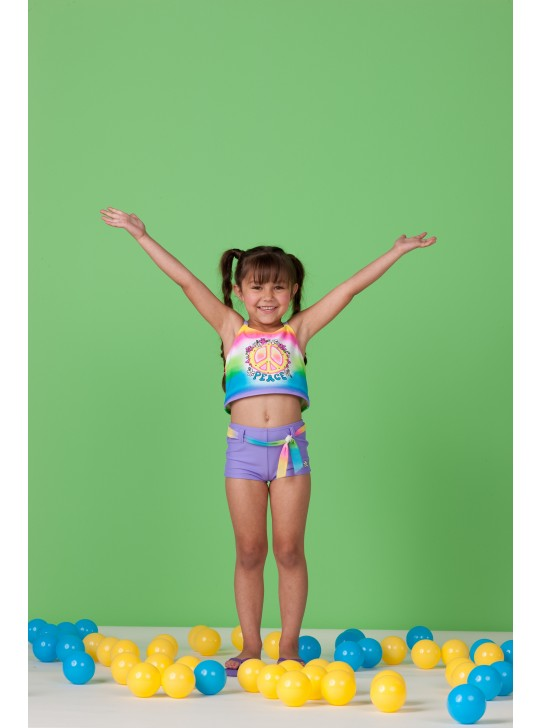 Hula Star 2 x piece swimsuit - Peace - 2 years old.