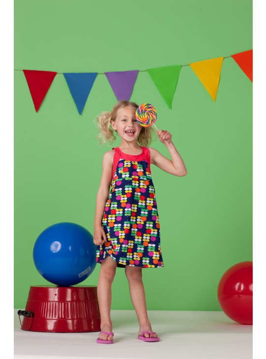 Hula Star Dress - multi colors 2 year.