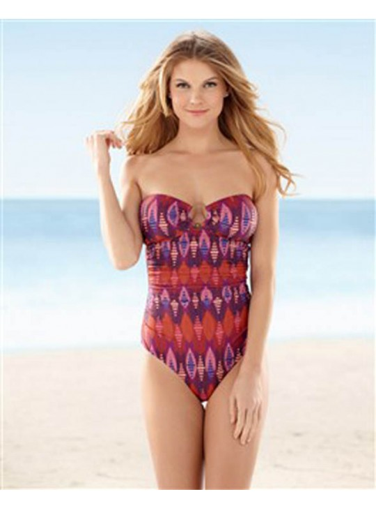 Ikat Bandeau One Piece Swimsuit by Hermanny by ViX