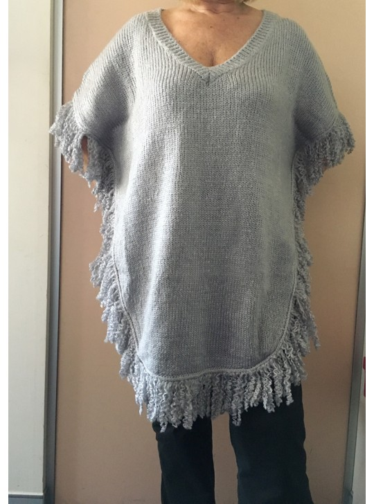 Grey poncho by Brave and True