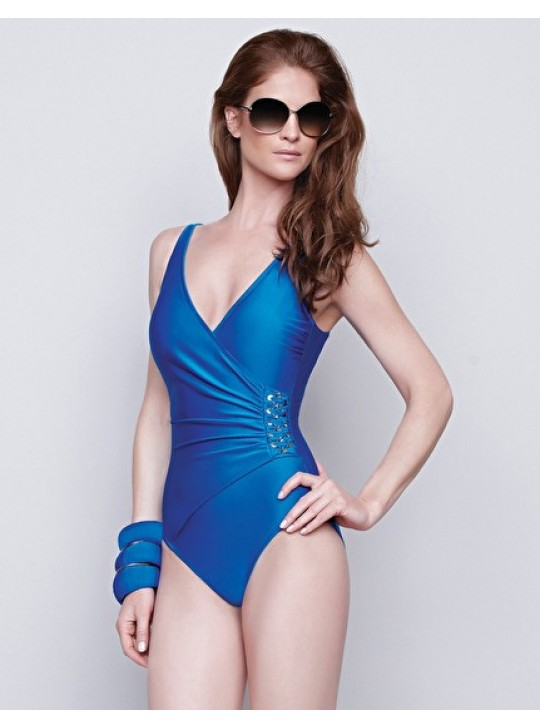 Gottex Jewels of the Sea Blue surplice one piece