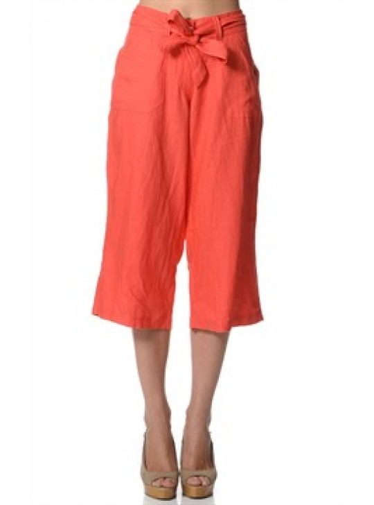 Linen Pants 3/4 length La Naturelle - Eco Friendly Linen.