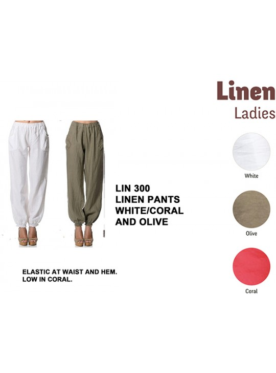 La Naturelle - Linen Cargo pants - Eco friendly  LIN 300