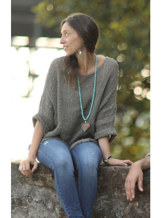 Heart & Turquoise Necklace by Mulberry Mongoose