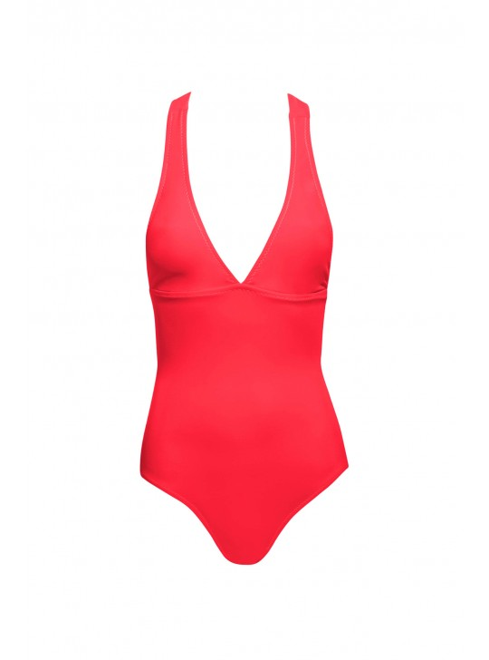 Phax Neon Red One pice swimsuit  - Medium