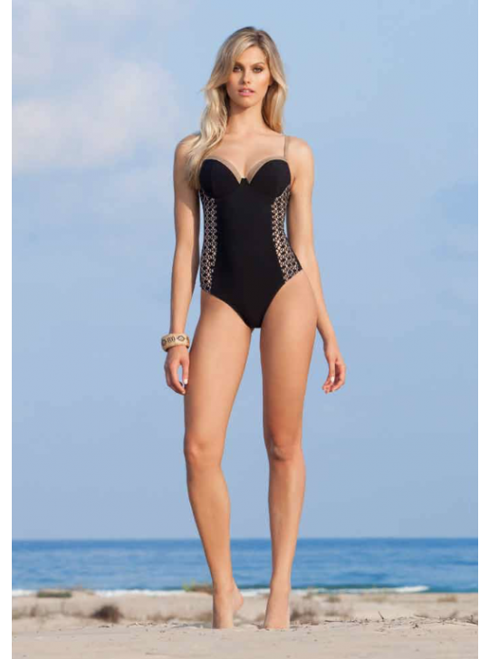 Profile Sweetheart one piece swimsuit - Kenya - Black