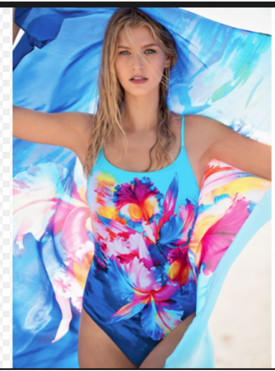 HAWAII Gottex Round Neck One piece Swimuit  Avail US 8,10 and 12  (Australian and UK 10. 12 and 14)