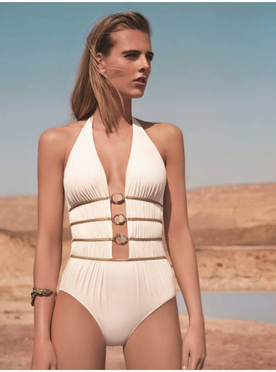 One piece Swimsuit - GOTTEX - CRYSTAL CLEAR  IVORY
