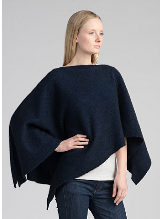 Poncho - Merino Wool, Possum  Untouched World - New Zealand