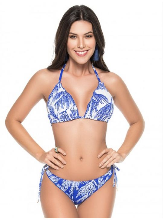 Phax Bikini 'Beyond Blue' Tri top, tie side bottom Medium