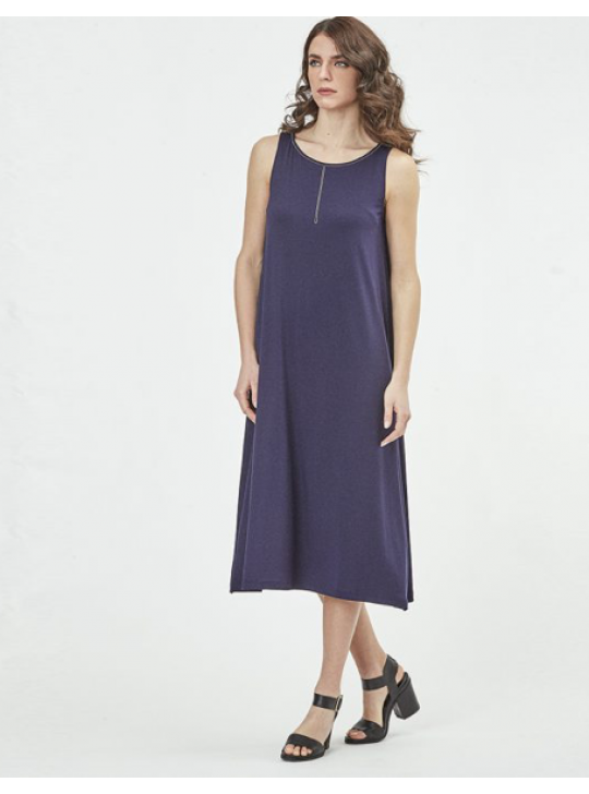 Oscalito #1379 Sleeveless maxi dress Medium  Navy