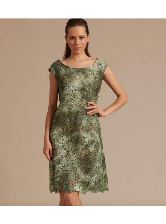 Oscalito 5752 Green lace Dress Small/Medium