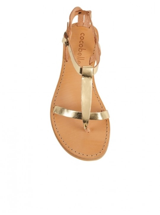 Cocobelle  Siena Leather  upper sandals - gold.