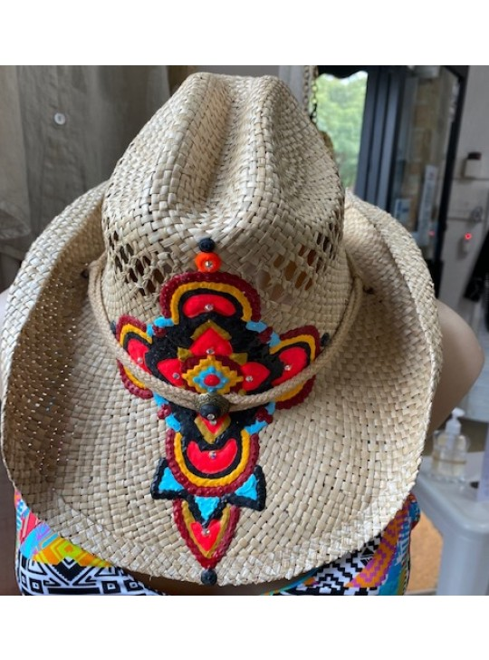 hand made Cowboy Style hat from SPARTI - SUSAN07  O/S