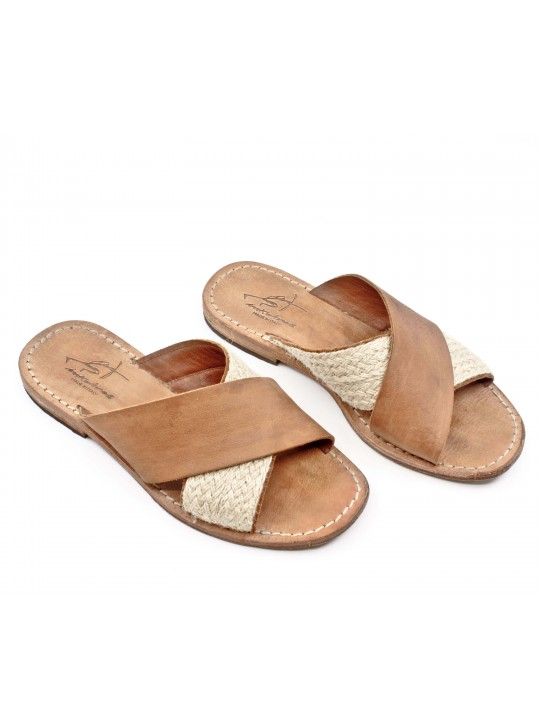 Toto Leather Sandals by Inkolives
