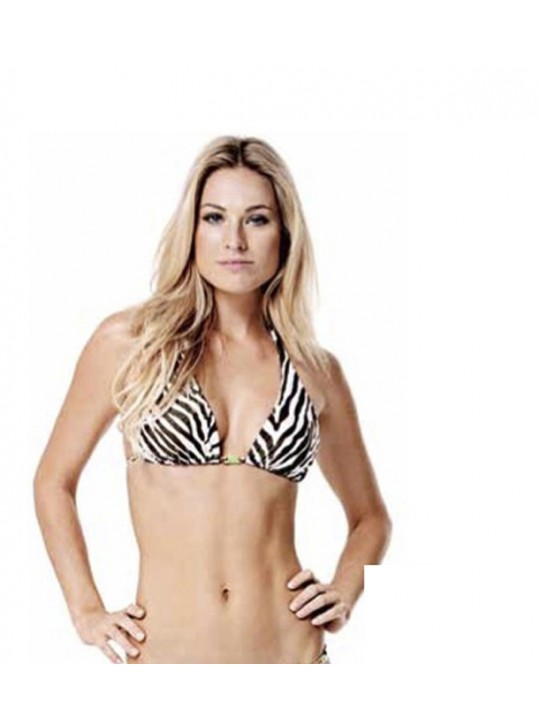Zebra Long Tri top by ViX swimwear.
